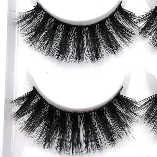 SHIDISHANGPIN 5 Pairs Natural False Eyelashes Fake Lashes Long Hair Makeup 3D Mink Eyelash Extension Mink Eyelashes Beauty 4