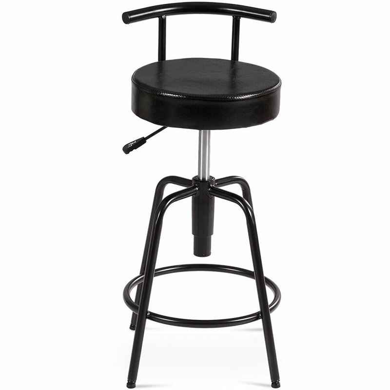 Adjustable Swivel Vintage Bar Stool PU Leather Steel Frame Chairs  for Home Commercial HW61046