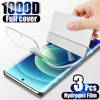 3 sztuk hydrożel folia ochronna na ekran do Samsung Galaxy S20 S21 S8 S9 S10 Plus uwaga 20 10 Ultra A51 A71 A50 A70 A20E A20 A7 Film tanie i dobre opinie FULSI Przezroczysty CN (pochodzenie) Folia na przód