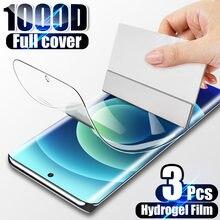 3Pcs Hidrogel Film Protector de Ecrã Para Samsung Galaxy S20 S21 S8 S9 S10 Plus Nota 20 10 Ultra A51 A71 A50 A70 A20E A20 A7 Filme