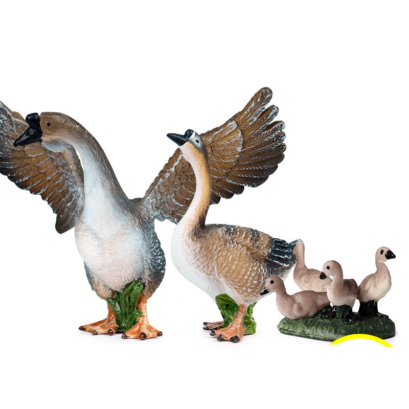 Simulation Goose Animals Model Action Figure Simulation Wild Animal Action Figures Collection PVC Lovely Toy Kids Gift
