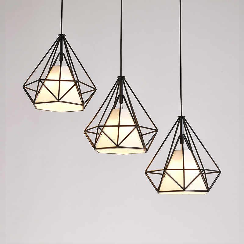 Европейская Алмазная люстра креативная Тройная железная настольная лампа для ресторана, кухонная лампа, кристаллы для домашнего декора, светильники