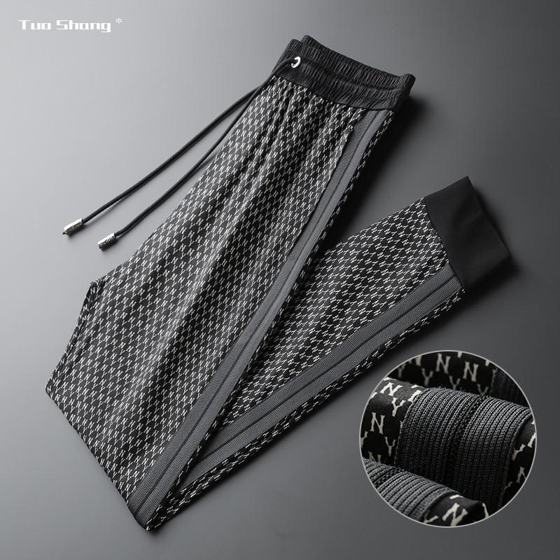 2020 Spring New Camouflage Pants Men Black Middle Drawstring Sports Pants High Fashion Side Designer Joggers Pantalon Homme 4XL