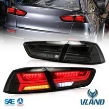 Free Shipping for VLAND car tail lamp for Mitsubishi Lancer 2008-2015 LED taillights Lancer EX tail light A5 moving signal  free shipping for china vland car head lamp for lancer led headlight with a5 style drl h7 xenon lamp 2008 2012 2015