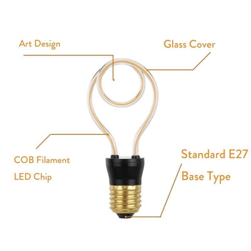 Dimmable Vintage rétro Filament Edison Antique E27 lumière LED ampoules lampes 220V blanc chaud 5W forme Unique pour Bar décoration de la maison