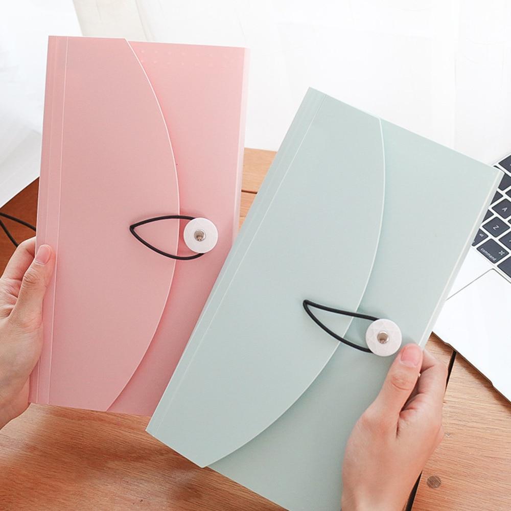 Kaba Bear Color Organ Bag B5 Student Multilayer Information Test Paper Bag Portable Document Bag Folder Information Bill