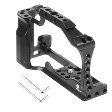 CNC Aluminum Camera Cage for Canon EOS M50 / M5 DSLR Case Cold shoe Mount Expansion Cover Quick Rease Plate Support Photography