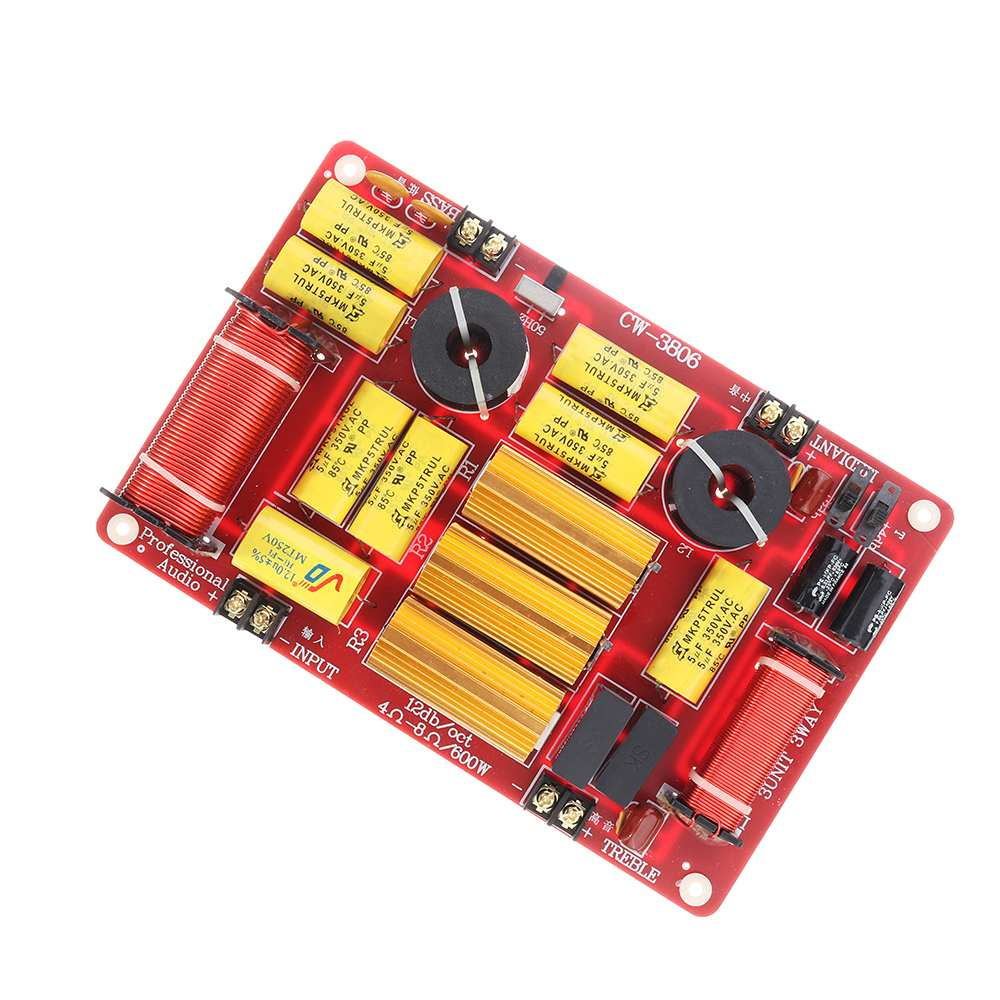LEORY Upgrade Speaker Frequency Divider Module High Power High Fidelity High Medium Low Three Dividers For Home Speaker