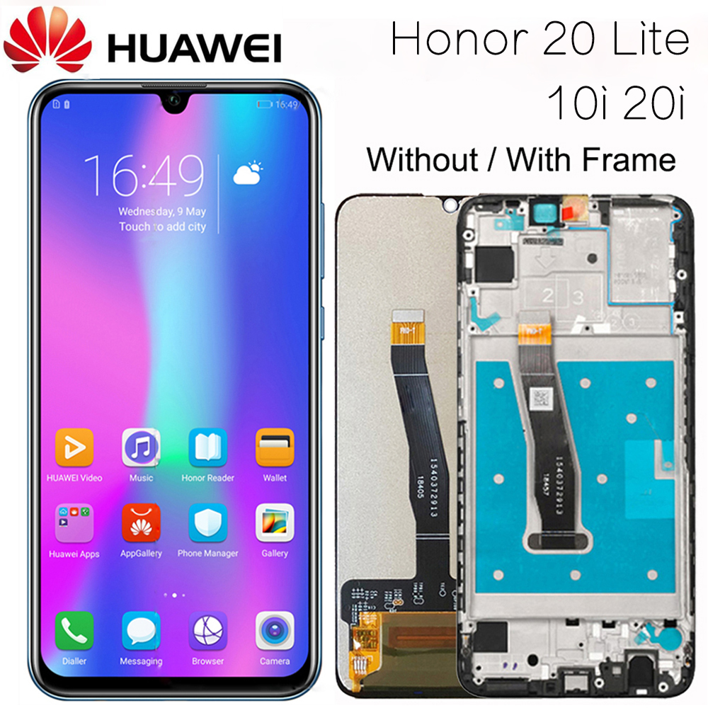 Original Display For Huawei Honor 20 Lite LCD Display Touch Screen Digitizer With Frame For Honor 20 Lite 10i 20i LCD Screen
