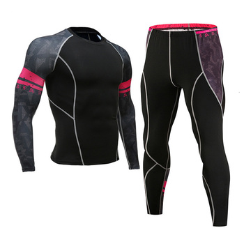 Men's Compression Sportswear Suits Gym Tights Training Clothes Workout Jogging Sports Set Running Rashguard Tracksuit For Men 7
