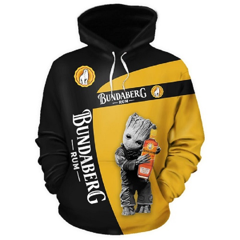3D Custom Groot Polerones LOGO Men's Capuche Homme Sweatshirt Hoodie For Men/women Sudadera Moletom Street Hoodie Cry Babies