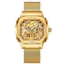BINGER-reloj mecánico de gama alta para hombre, reloj Citizen MIYOTA de 50M, resistente al agua, con esfera hueca de negocios