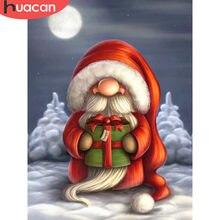 HUACAN pintura de diamantes Navidad DIY diamante del bordado de Santa Claus completa cuentas cuadradas de dibujos animados imagen de diamantes de imitación