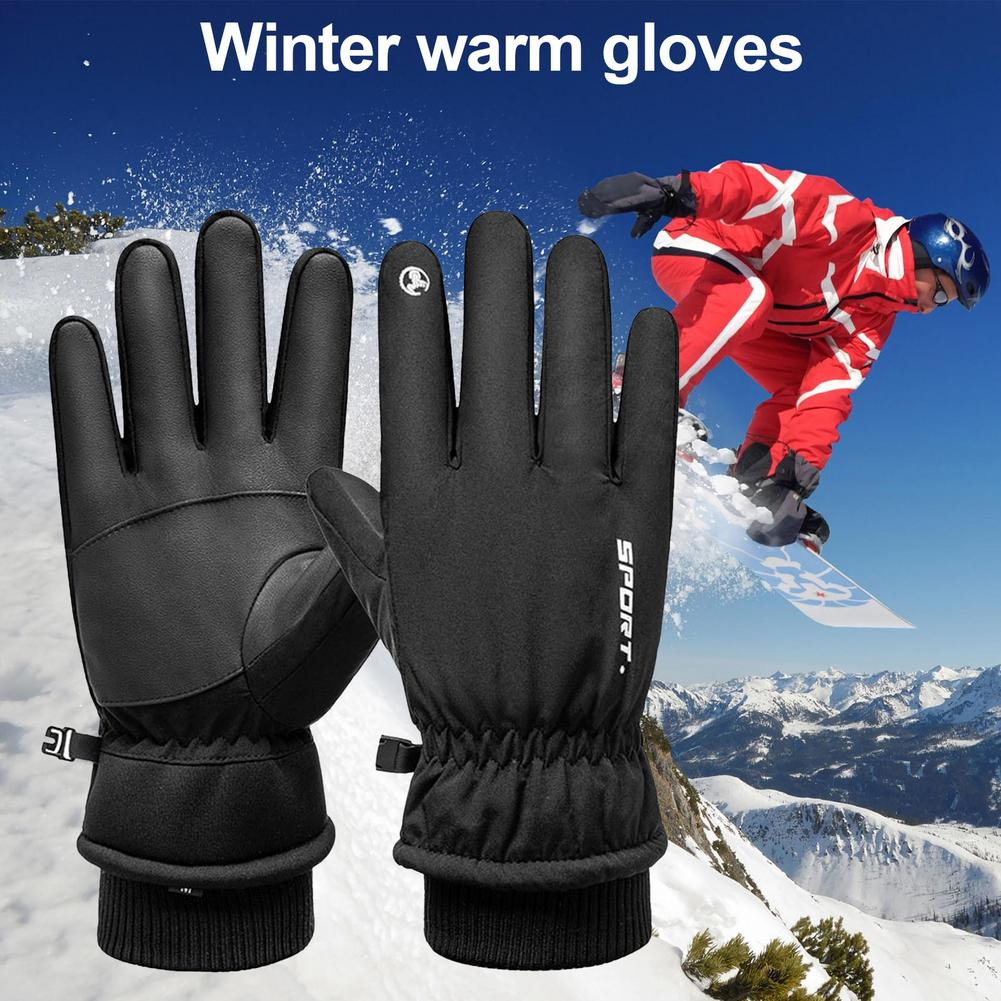 Motorcycle Gloves Moto Gloves Winter Thermal Warm Windproof Water Resistant Touch Screen Non-slip Motorbike Riding Gloves