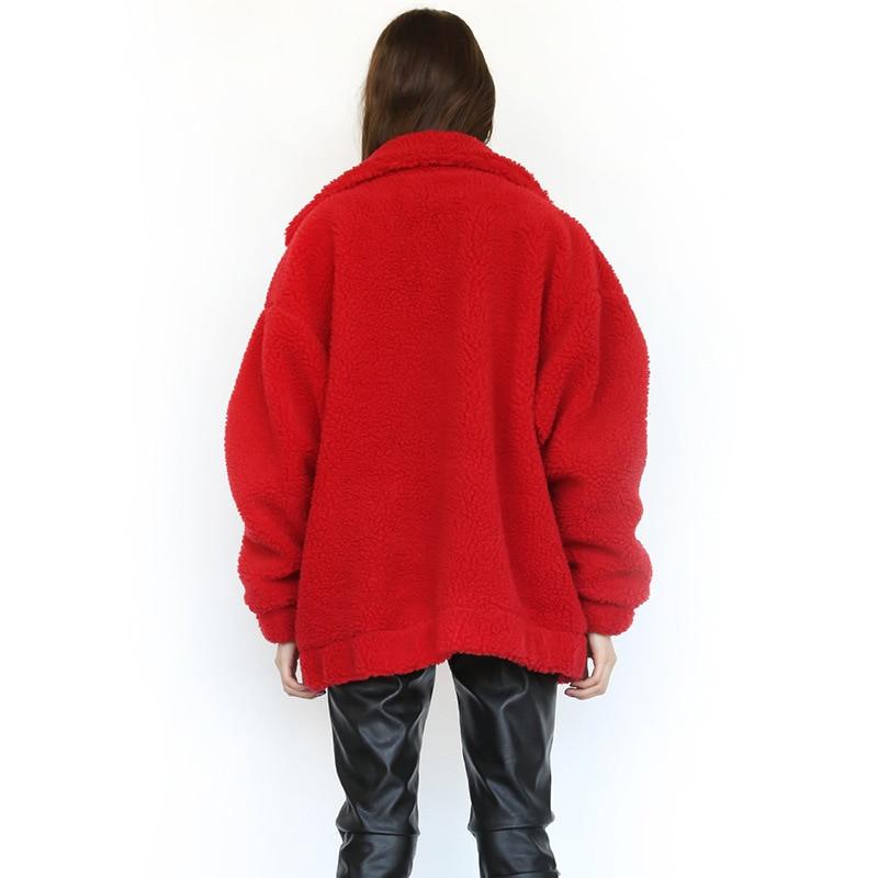 H56b1fb8d29a94a7cb50d578a18f6a008j Autumn Winter Faux Fur Coat Women 2020 Casual Warm Soft Zipper Fur Jacket Plush Overcoat Pocket Plus Size Teddy Coat Female XXXL