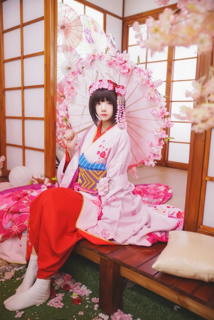 微博红人萝莉风COS 桜桃喵 – 加藤惠系列之和服 [23P/368MB]插图1