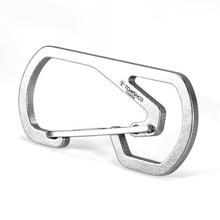 Titanium Carabiner Key Chain Holder Camping Ultra-lightweight Climbing Equipment Outdoor Tools