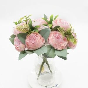 1Bouquet Artificial peony Artificial flower wedding decoration silk flower christmas decoration for home rose bouquet decoration