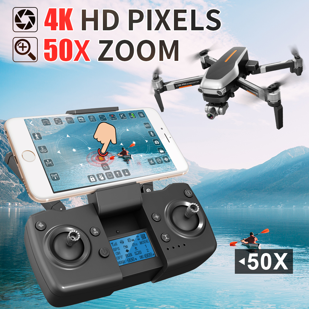 L109 PRO GPS RC Drone 5G WiFi FPV 4K HD ESC Camera Professional Selfie Quadcopter Brushless Helicopter 25mins Flight Time VS F11