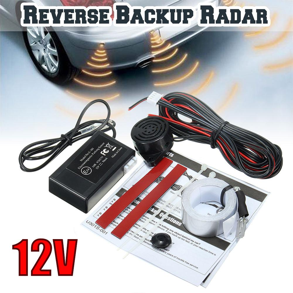Car Auto Parktronic Parking Sensor 12V Electromagnetic Reverse Backup Car Parking Radar Monitor Detector System Radar Sensor Kit