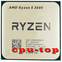 Processador amd ryzen 5 3600 3600 ghz, cpu r5 six-core e twelve-thread, 7nm, 65w, l3 soquete am4 = 32m 100-000000031