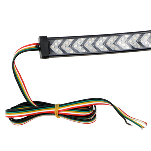 Image 2 - شاحنة الباب الخلفي LED قطاع الفرامل بدوره إشارة مرنة 12V DRL الجري الخفيف 1/1.5 متر سيارة LED لاقط السهم