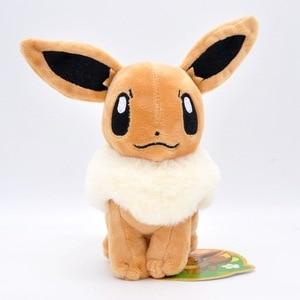 TAKARA TOMY Pokemon Cartoon Elf Anime Dolls 17cm-25cm Eevee Animal Plush Stuffed Toys Christmas Pikachu Birthyday Gifts for kids