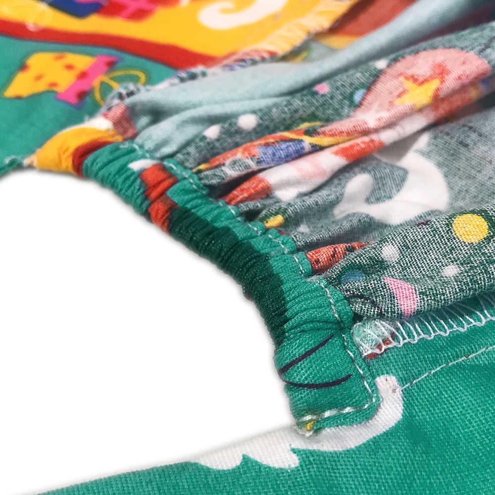 רופא כירורגי לשפשף כובע יוניסקס חולים מתכוונן רפואי כובעי לשפשף מעבדה מרפאת שיניים מבצע חג המולד מודפס כובע אחות