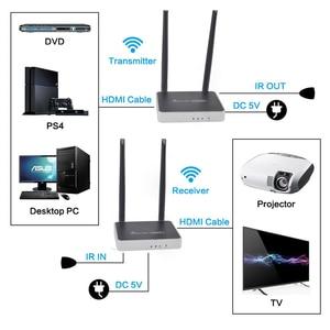Image 2 - 2020 Best 300m Wireless HDMI Transmitter Receiver With IR Remote Control 5GHz HDMI Wireless Extender 1080P WIFI Sender Receiver