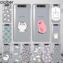 ciciber Phone Case Cover for Samsung Galaxy A50 A70 A80 A60 A40 A30 A20 A10 A20e Soft Silicone TPU Funda Capa Animal Cat Unicorn