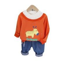 Хлопковая одежда для маленьких мальчиков и девочек на весну