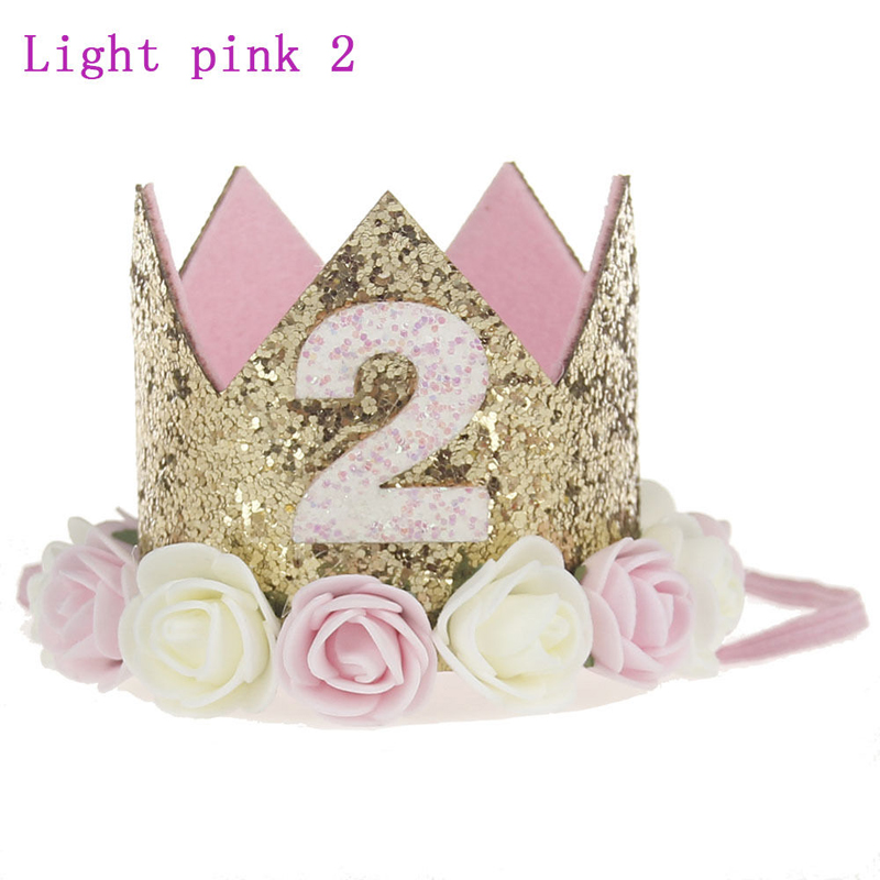 New Cute Boy Girl Baby Birthday Celebrate Crown Mini Flower Crown Hat Perform Child Kid Party Hair Bands Party Decor Supplies
