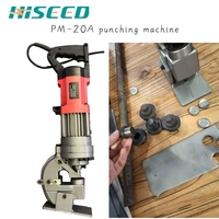 Hydraulic Puncher 8mm steel plate hole punching machine CE certificate over seas Hydraulic Puncher 10mm steel plate hole support