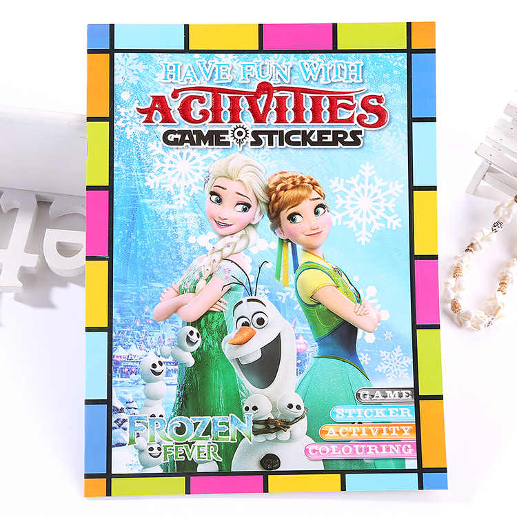 Frozen Cartoon Funny Coloring Book Car Mobilization Boy Painting