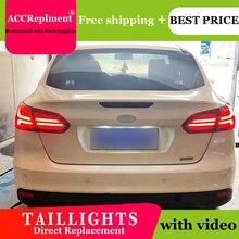 Автомобильный Стайлинг светодиодный задний фонарь светильник s для Ford Focu 2015-2018 хвост светильник светодиодный бег светильник + Динамический ...