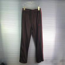 Needles-Pants Brown Stripes AWGE Men High-Quality Women Hip-Hop Red New