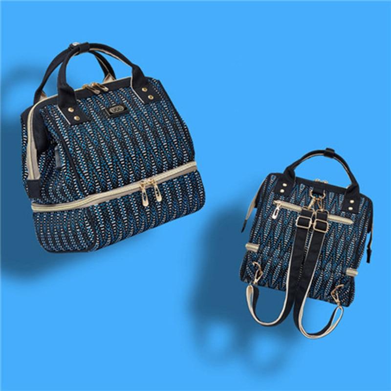 Fashion Mummy Maternity Diaper Bag Large Capacity Mom Bag Thermal Insulation Travel usb Backpack Small Handbag For Baby Care