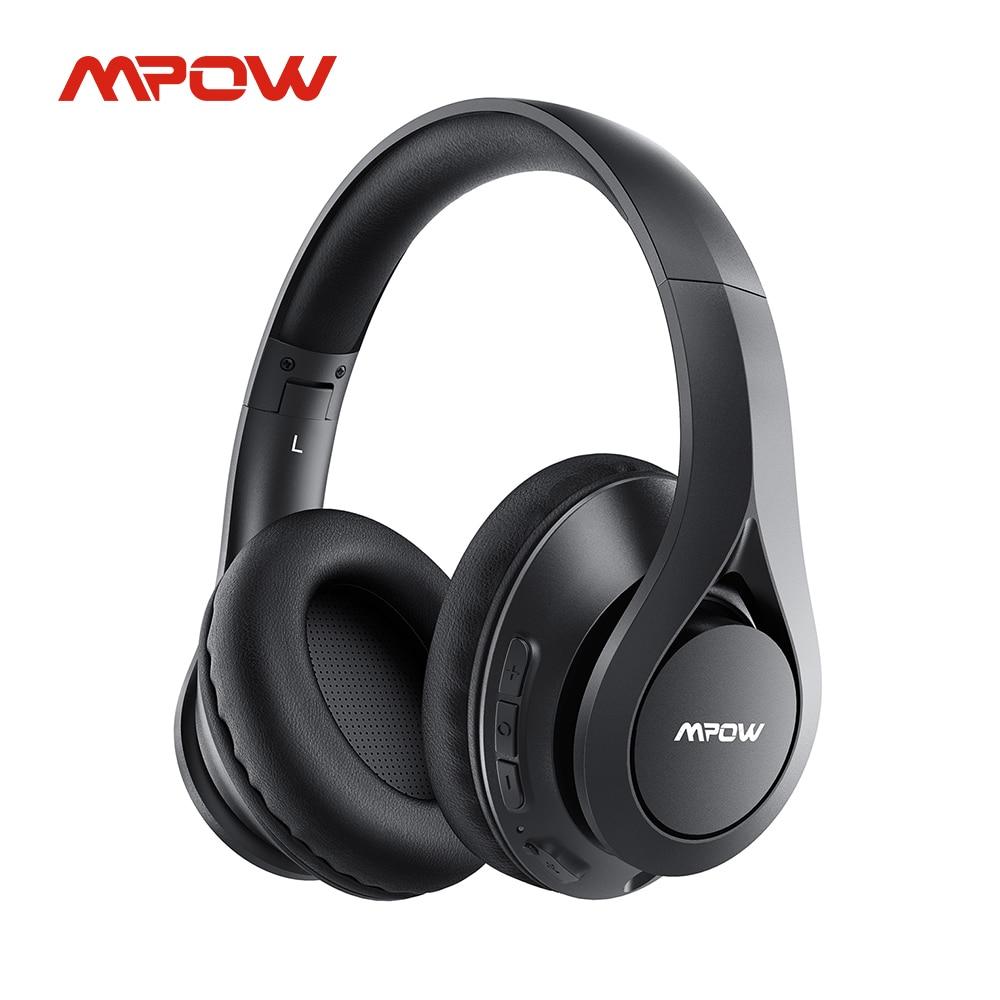 Беспроводные наушники Mpow 059 Pro/Lite, 60 часов воспроизведения, Bluetooth 5,0, Hi-Fi стерео звук, CVC 6,0, шумоподавление, для сотового телефона, ПК