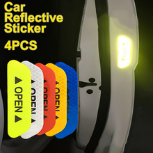 Reflective Strip Long-Distance Open Door Safety Warning Auto Waterproof 4pcs Luminous