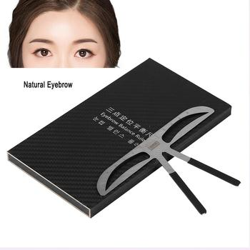 Three-point Positioning Tattoo Eyebrow Ruler Measure Balance Shaping Stencil Eyebrow Stencils Designed for straight eyebrows,