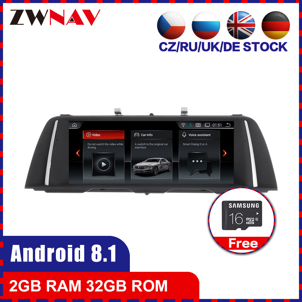 2G+32G touch screen <font><b>Android</b></font> 8.1 Car multimedia Player GPS Audio for <font><b>BMW</b></font> 5 Series <font><b>F10</b></font> F11 2010-2016 CIC NBT radio stereo free map image