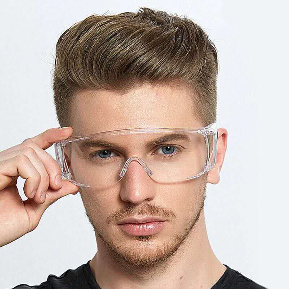 Safety Protective Goggles Glasses Transparent Dust-Proof Glasses Lab Dental Eyewear Splash Eye Protective Anti-wind Glasses D30