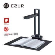 CZUR Book Scanner Aura Pro Portable Document Scanner 14MP Max A3 Size with Smart OCR Led Table Desk Lamp for Family Home Office