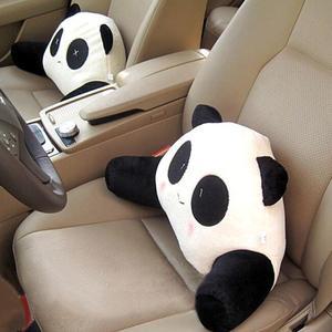 Image 3 - Cartoon Panda Auto Back Support Waist Pillow Cushion Plush Lumbar Pillow for Car Seat Kids Gifts Car Accessories