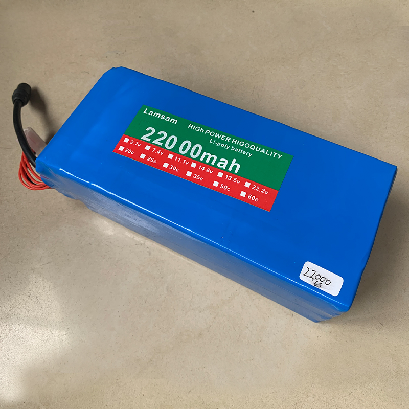 22.2V <font><b>22000mah</b></font> <font><b>6S</b></font> /4S/3S 25C Li polymer battery high rate 25C for Multi axis vehicle Model aircraft plant protection mach image