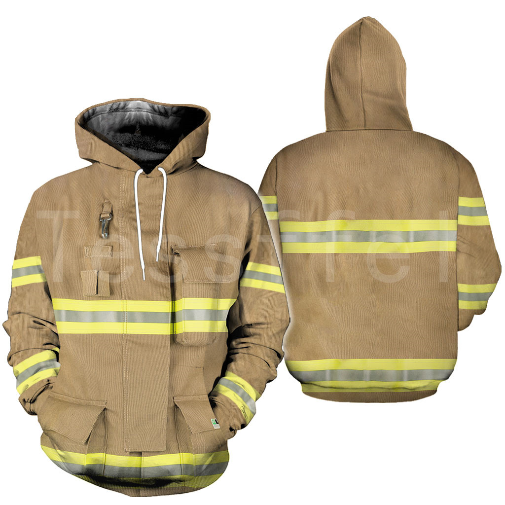 Tessffel Firefighters Suit Firemen Superhero Harajuku Tracksuit NewFashion 3DPrint Zipper/Hoodies/Sweatshirt/Jacket/Men/Women S1