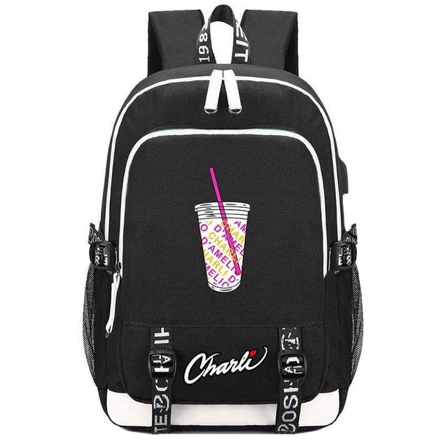 Модный холщовый рюкзак для девочек подростков Женский дорожный