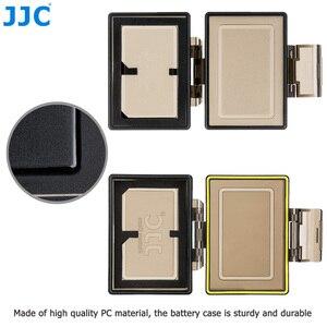 Image 2 - JJC Camera Battery Holder Case Bag for Canon LP E6 LP E6N LP E17 Sony NP FW50 Fujifilm NP W126 Case SD MSD TF Card Storage Box