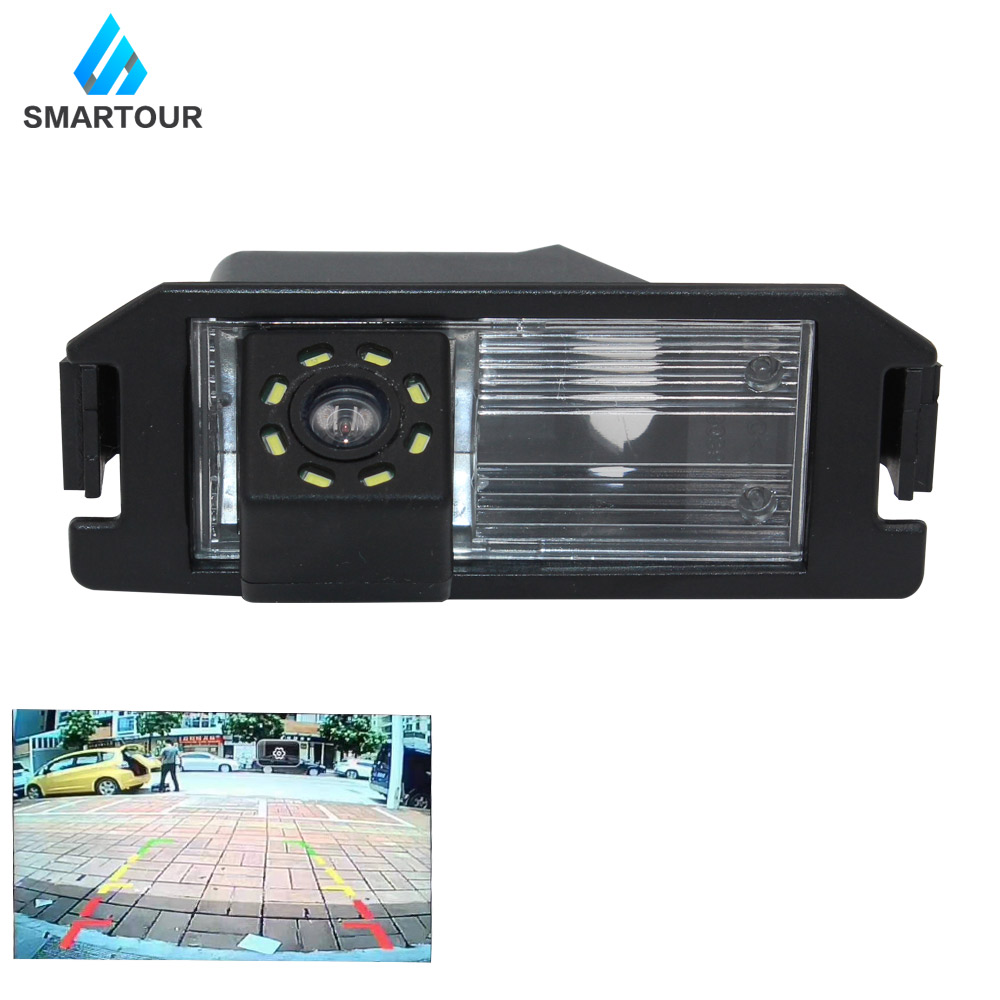Smartour Car Rear View Camera For Hyundai Elantra Terracan Tucson Accent Reversing Parking Rear View Camera CCD Backup 8Led I30