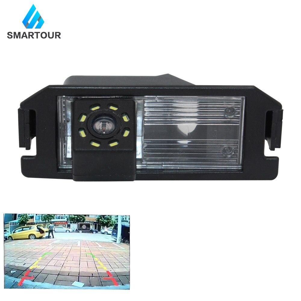 Smartour câmera de visão traseira do carro para hyundai elantra terracan tucson acento invertendo estacionamento câmera visão traseira ccd backup 8led i30